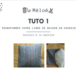 Tuto 1 Atelier Méloé - Le coussin